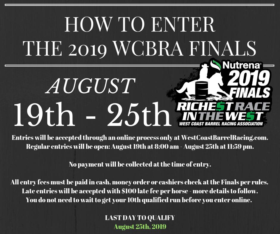 Finals Info – WCBRA